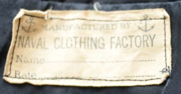 NAVAL CLOTHING FACTORY-tag- first