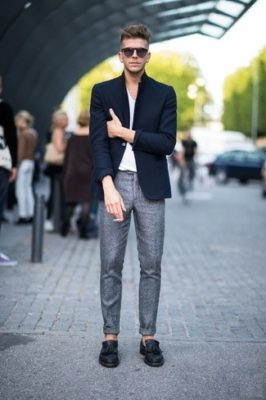 navy-blazer-and-white-v-neck-t-shirt-and-black-tassel-loafers-and-grey-dress-pants-large-565